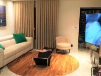 Sala de estar com automação das persianas