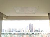 Flap TV otimizando o espaço da varanda