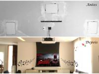 Caixas totalmente invisíveis - embutidas na parede